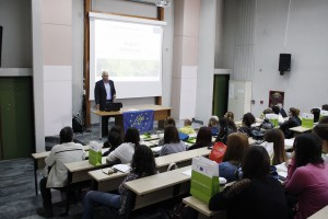 Dr. Nikitas Fragkiskakis the General Secretary of the Macedonia-Thrace region opens the Teaching Workshop