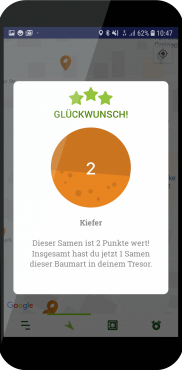 7 Screenshot Seedhunter Glückwunsch